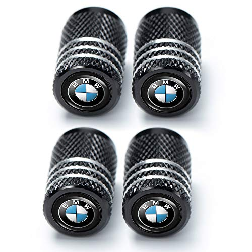Dingzhenmei 4 Pcs Metal Car Wheel Tire Valve Stem Caps for BMW X1 X3 M3 M5 X1 X5 X6 Z4 3 5 7SeriesLogo Styling Decoration Accessories.