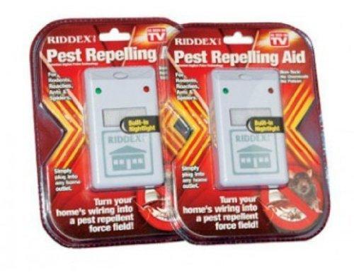 Riddex Plus electromagnéticos Sonic Pest repelling Aid y cucarachas Ahuyentador de roedores Control de plagas con luz nocturna seguro y no Tóxico