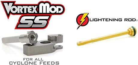 Techt Paintball Upgrade Package for Tippmann Cyclone Feed Systems A-5 X7 Phenom 98 - Includes Lightening Rod + Vortex Mod SS