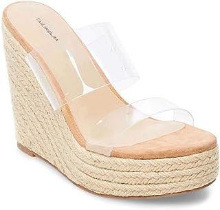 Ladies Transparent PVC Plus Size Sandals Women's Shoes