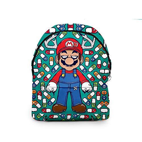 xunlei Paquete Dibujos Mario Juego Super Mario Bros Cosplay Mochila Plomero Impresión 3D Bolso de Hombro de Gran Capacidad Mochila para Adolescentes Mochila Oxford Mochila Nuevo