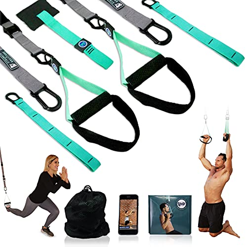 The Unity Training All-in-ONE Bodyweight Resistance Training System. Professional Grade Portable Workout Straps for Full Body Workouts Anywhere, Anytime - Burn Fat - Increase Mobility - Improve Cardio
