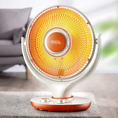 Calentador de escritorio para uso doméstico, sincronización de 60 minutos, estufa de cabeza de agitación de gran angular de oficina, calentador silencioso ajustable de dos etapas, calentador eléctrico