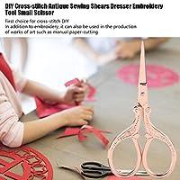 ドレッサー刺繡ツール小さなはさみ、高品質のステンレス鋼、クロスステッチDIYの第一選択、ドレスメーカーのはさみ(Rose gold)
