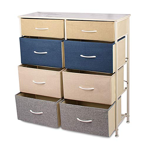 8-Wide Drawer Dressers & Chests of Drawers, Fabric Storage Drawers and Metal Frame