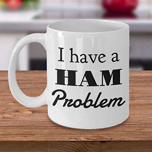 Ham Operaror Amateur Radio Gift OF voor Hams Vrouw Man Vriendin Ik heb een HAM Probleem 11oz Koffie Mok Theekop