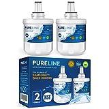 Pureline DA29-00003G Water Filter Replacement for Samsung DA29-00003G, Aqua-Pure Plus, Samsung RSG257AARS, DA29-00003F DA29-00003B, DA29-00003A, HAFCU1, RS22HDHPNSR, RF267AERS, HDX-FMS-1. (2 Pack)