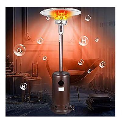 Patio Heater Propane Gas Portable Commercial Outdoor Heater, Propane Patio Heater Large Natural Gas Outdoor Heater, Suit for Garden Wedding,Party (A-Brown)