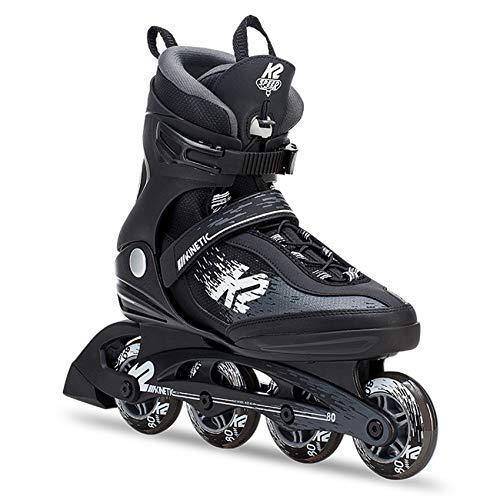 K2 Skates Herren Inline Skate Kinetic 80 PRO M — Black - Grey — EU: 44.5 (UK: 10 / US: 11) — 30C0752
