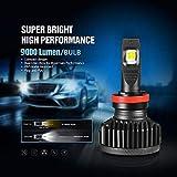 KOOMTOOM H8 H11 LED Lampadina fari 16000lm 90W Canbus ad alta potenza senza errori 6500 K