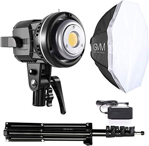 GVM LED Videoleuchte mit Softbox, 80W LED Fotostudio Beleuchtung mit Stativ, CRI97+ 5600K Tageslicht Fotolicht, LED Dauerlicht für Fotografie, Studio YouTube Videoaufnahmen Videolicht