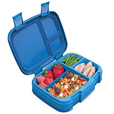 Bentgo Fresh (Blue) ? New & Improved Leak-Proof, Versatile 4-Compartment Bento-Style Lunch Box ? Ideal for Portion-Control and Balanced Eating On-The-Go ? BPA-Free and Food-Safe Materials