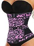 FARYSAYS Women's Workout Running Waist Trainer Sauna Effect Belt Hourglass Shaper Neoprene Sweat Corset for Weight Loss Rosy X-Large
