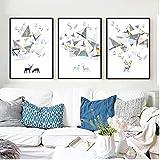 WHSS 3 piezas minimalista estilo europeo personalidad triángulo...
