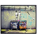 Funny Motivational Banksy Street Art Mural 8x10 Picture - Urban Graffiti Photo Wall Decor, Decoration for...