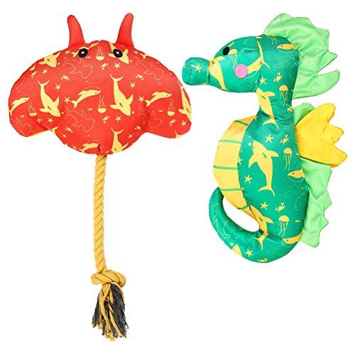 PUPTECK Quietschendes schwimmendes Spielzeug für Hunde – 2 Stück Hunde-Pool-Spielzeug und langlebiges Kauspielzeug, interaktives Hundespielzeug für kleine bis große Hunde