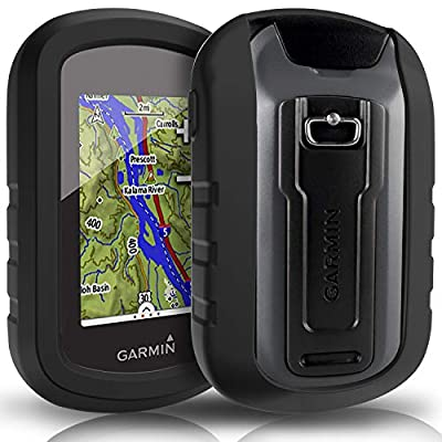 TUSITA Case with Screen Protector for Garmin eTrex Touch 25 35 35t - Silicone Protective Cover Skin - Handheld GPS Navigator Accessories