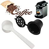 CCChaRLes Cápsula De Café Reutilizable Recargable Pod Cup Para Cafetera Nespresso