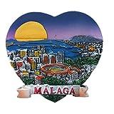 Málaga España Europa Ciudad Mundial Resina 3D Fuerte Imán de Nevera Regalo Turístico Imán Chino Hecho a mano Artesanía Creativa Casa y Cocina Decoración Magnética Pegatina