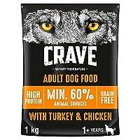 Crave 3 x Complete Dog Food with Turkey & Chicken 1kg (3kg Total)