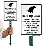 """SmartSign'Keep Off Grass' Funny Dog Poop Sign for Lawn 