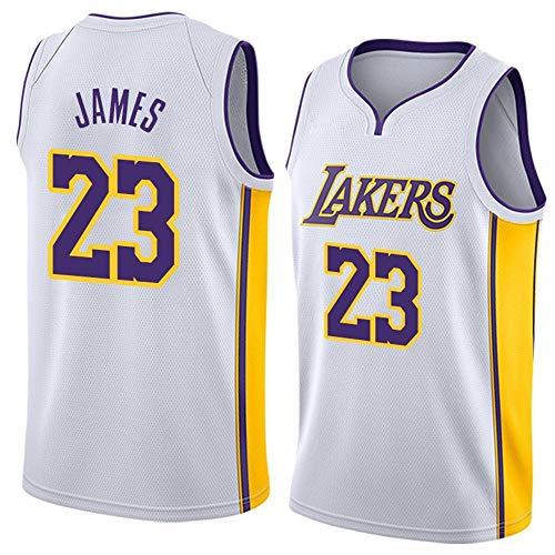 WSUN Camiseta De Baloncesto NBA para Hombre, Los Angeles Lakers 23# Lebron James Jersey NBA Fan Jersey NBA Cool and Light Camiseta Deportiva Sin Mangas,B,XXL(185~190CM/95~110KG)