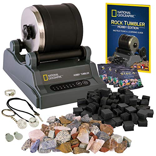 National Geographic Hobby Rock Tumbler Kit - Rock Polisher for Kids &...