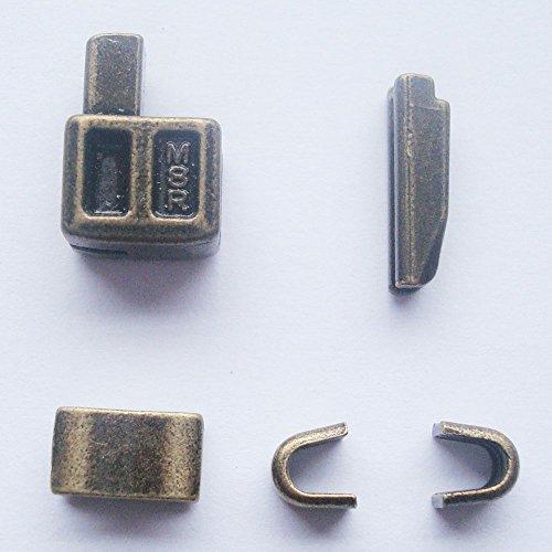 Reißverschluss-Reparatur-Kit, Metall-Reißverschlusskopf,Nr. 8, Reißverschluss-Schieber mit Einführstift für einfache Reißverschlussreparatur, bronzefarben, 2Sets