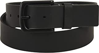 Timberland Men's Pull Up Black Genuine Leather Belt