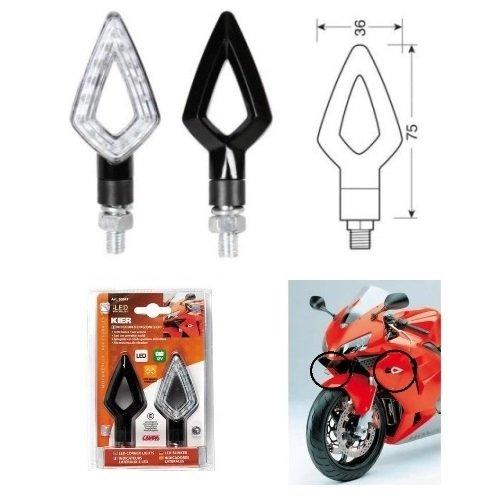 Triumph Speed Triple 955 2002-2004 Paire de Clignotants à LED 12 V pour Moto Lampe 90247 Kier homologuée indicateur avec lumière Orange