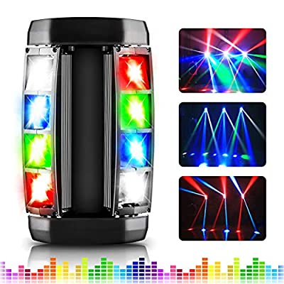 Stage Lighting, AGPtEK LED Stage Light RGBW 4-in-1 LED Moving Head Light, Compatible DMX-512 with 4 Control Modes for Parities, Concert, Performance Stage, Club, Bar and Wedding Ceremony