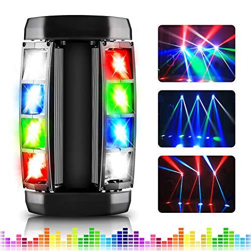 Illuminazione da palcoscenico, AGPtEK LED Stage Light RGBW 4-in-1 LED, Luce a testa mobile DMX512 compatibile con 4 modalità di controllo per feste, concerti, palcoscenici, bar e cerimonie nuziali