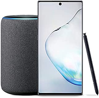 Samsung Galaxy Note 10+ Plus Factory Unlocked Phone with 256GB (U.S. Warranty), Aura Black with Echo Plus (2nd Gen) - Premium Sound with Built-in Smart Home hub - Charcoal