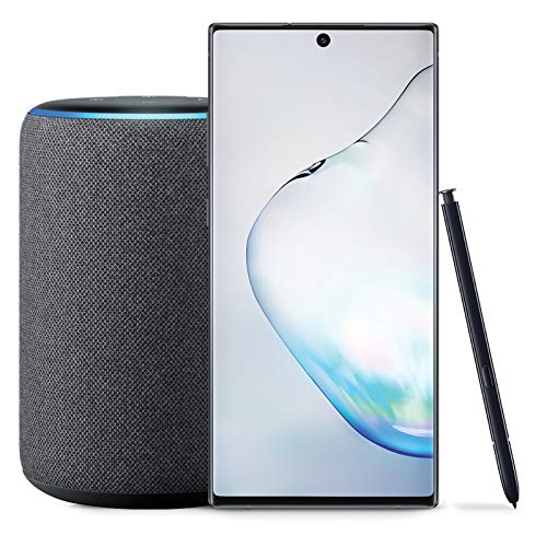 Samsung Galaxy Note 10+ Plus Factory Unlocked Phone with 512GB (U.S. Warranty), Aura Black with Echo Plus (2nd Gen) - Premium Sound with Built-in Smart Home hub - Charcoal