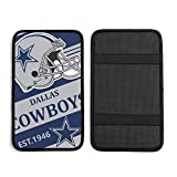 Dallas Cowboys Universal Auto Center Console Pad, Waterproof Car Armrest Seat Box Cover Protector More Comfortable Driving fit Most Car Vehicle SUV Truck Car 12.6x7.5inch