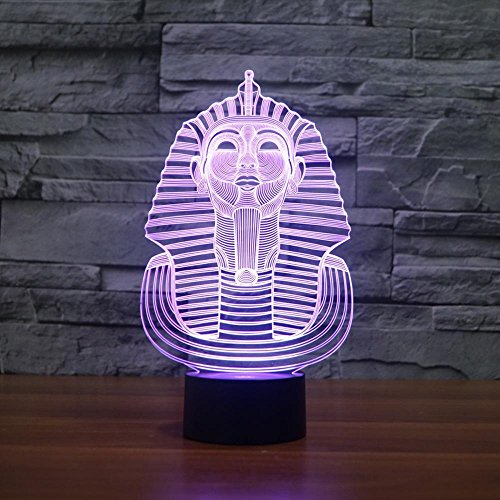 Axiba 3D Nightlights, Sphinx 3D Lights Colorful Touch Rechargeable LED Visual Light Gift lamp