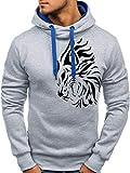 SLYZ Otoño E Invierno De Los Hombres Europeos Y Americanos Nuevo Suéter con Estampado De Cabeza De Tigre con Estampado Salvaje Suéter De Moda Casual para Hombres