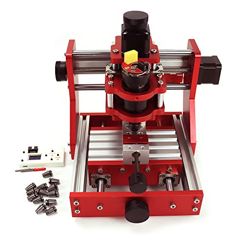 GRBL Control 3 Aixs CNC1310 Metal Engraving Milling Machine + Offline Controller + Mini Vise Clamp + 14pcs ER11 Collet for Engraving Copper/Aluminum and Soft Metal, Plastic, Wood, Acrylic, PVC, PCB
