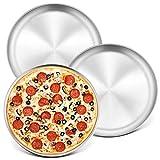 10-Inch Pizza Pan Round Pizza Tray, P&P CHEF Pizza Baking Tray Bakeware Set, Non-toxic & Healthy,...