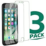 Compatible with iPhone 8 Plus Screen Protector | iPhone 7 PlusScreen Protector |iPhone 6 Plus Screen Protector, Tempered Glass Film for Apple iPhone 8 Plus/7 puus/6 Plus. 3-Pack Clear