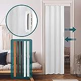Porte Accordéon Extensible - 84x8x202 cm en Plastique PVC, Couleur au Choix - Porte Pliante, Porte Paroi, Porte Escamotable...