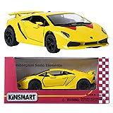 Kinsmart 1:38 Lamborghini SESTO ELEMENTO Pantalla Amarilla Mini Coche Juguete