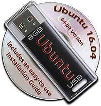 Ubuntu Linux 16.04 Bootable 8GB USB Flash Drive - 64-bit Version