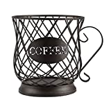 Coffee Pod Holder Keurig Pod Holder for 35 K Cups Large Capacity Counter K Cup Storage Organizer Capsule Holder Coffee Bar Accessories for Coffee Bar Table Matte Bronze