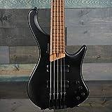Ibanez EHB1005-BKF - Basse électrique 5 cordes headless - Black Flat (+housse)