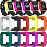 TenCloud Covers Compatible with Garmin Forerunner 35 Watch, Silicone Protector Case Replacement for Forerunner 35 Approach S20 Watch Accessories (Multicolors)