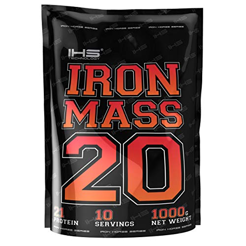 Iron Horse Iron Mass Gainer Package of 1 x 1000g - High Dose of Carbohydrates with Whey Protein Concentrate and Vitamin Complex B and C (Vanilla)