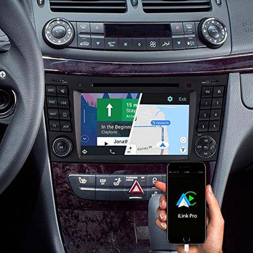 DYNAVIN Autoradio Navi für Mercedes E-Klasse W211 2002-2009 CLS C219 2004-2010; 7 Zoll OEM Radio mit Android Auto, Bluetooth, inkl. DAB+, USB; N7-MBE Pro