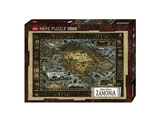 Heye 29622 - Walter Moers, Map of Zamonia, 2000 Teile Standardpuzzle