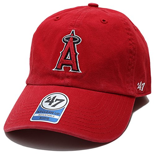 【RGW04GWSK】 フォーティーセブンブランド 47BRAND ボールキャップ 帽子 エンゼルス かっこいい 子供用 メジャーリーグ 正規品 (01)赤 Fサイズ(男女兼用)